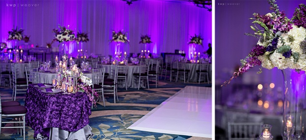 Ritz Carlton Grande Lakes Dana And Henrys Purple Elegance Wedding
