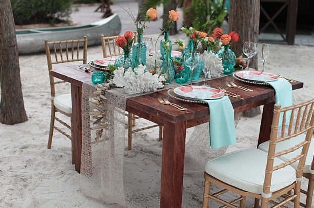 Tab McCausland Photography, Paradise Cove, A Chair Affair Event Rentals, Orlando wedding, Orlando chair rentals, gold chiavari chairs, white pads, farm table, gold beaded Belmont charger