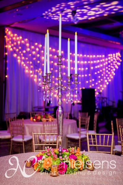 The Nielsens, The Alfond Inn, A Chair Affair Event Rentals, Orlando chiavari chair rentals, candelabra