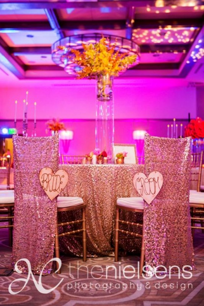 The Nielsens, The Alfond Inn, A Chair Affair Event Rentals, Orlando chiavari chair rentals, gold chiavari chair accents