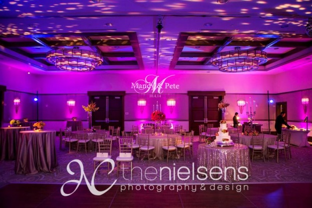 The Nielsens, The Alfond Inn, A Chair Affair Event Rentals, Orlando chiavari chair rentals, gold chiavari chairs, pink and purple wedding ideas
