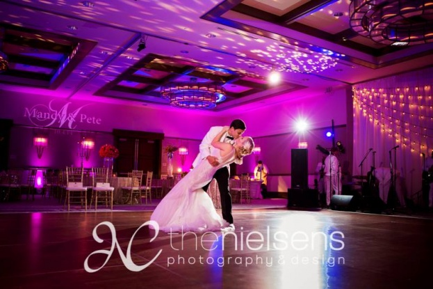 The Nielsens, The Alfond Inn, A Chair Affair Event Rentals, Orlando chiavari chair rentals, gold chiavari chairs, purple wedding