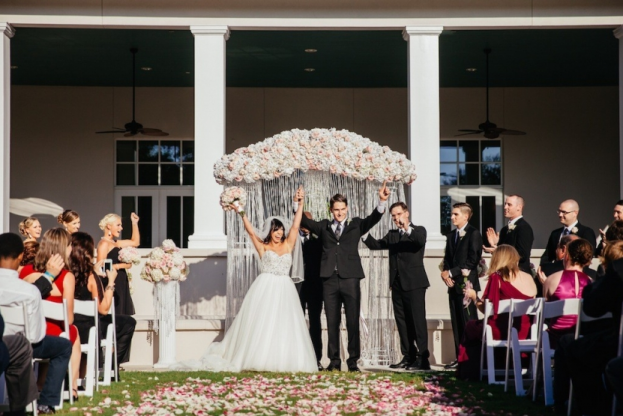 The Palmetto Club: A Glamorous Blush and Gold Wedding