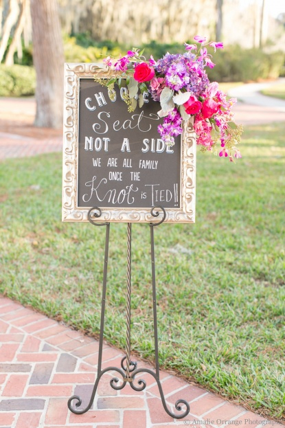Chalkboard Wedding Sign, Amalie Orrange Photography, Cypress Grove Estate House, A Chair Affair Event Rentals