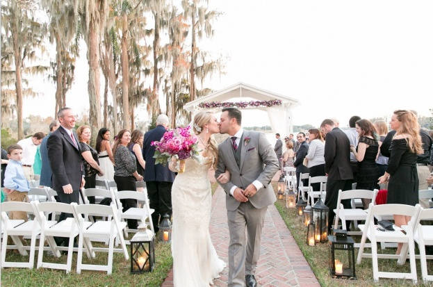 Cypress Grove Estate House: Heather and Alex's Plum & Champagne Wedding