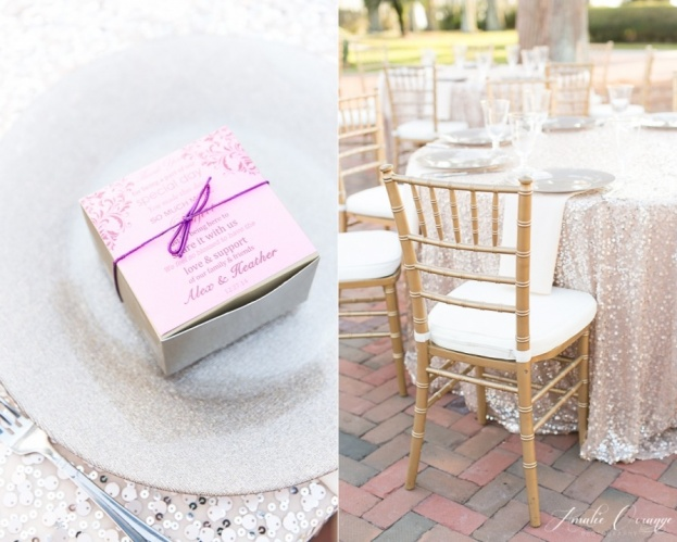 Cypress-Grove-Estate-House-Amalie-Orrange-Photography-Champagne-Glitter-Glass-Chargers-Flatware-Gold-Chiavari-Chairs-A-Chair-Affair-Event