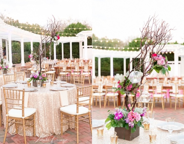 Cypress-Grove-Estate-House-Amalie-Orrange-Photography-Lee-Forrest-Design-Gold-Rim-Stemware-Gold-Chiavari-Chairs-A-Chair-Affair-Event