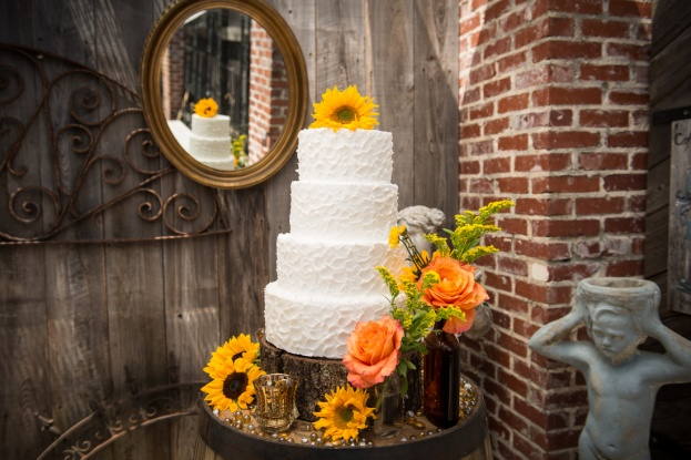 Erika Rech Photography, Cafe Da Vinci, A Chair Affair event rentals, Orlando chair rentals, wine barrel cake stand