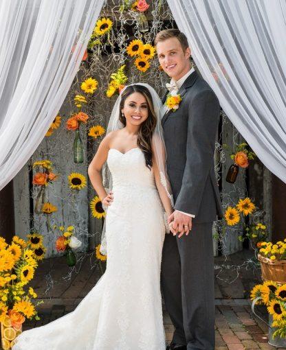 Cafe DaVinci: Sunflower Wedding Inspiration on the Celebration Society