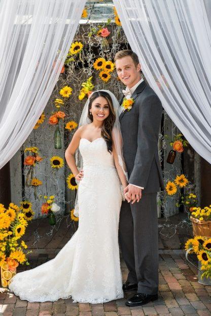 Cafe Davinci Sunflower Wedding Inspiration On The Celebration