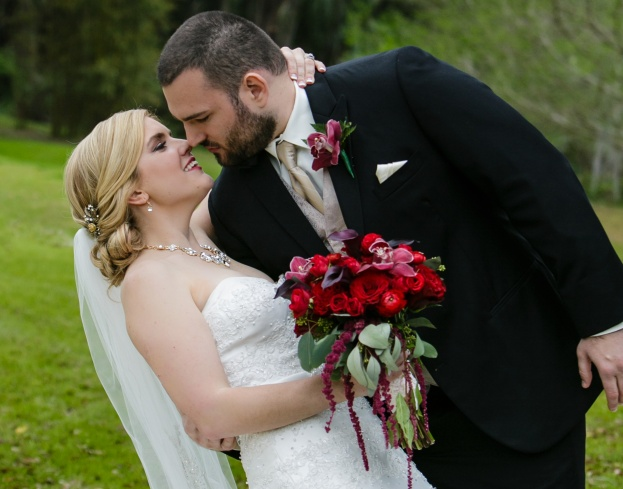 Lake Mary Events Center: Chelsea and Nathan's Red and Gold Wedding