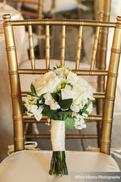 Misty Miotto Photography, Paradise Cove, A Chair Affair event rentals, Orlando chair rentals, gold Chiavari chair, ivory chair pad