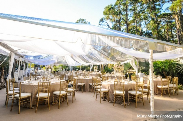 Misty Miotto Photography, Paradise Cove, A Chair Affair event rentals, Orlando chair rentals, gold Chiavari chairs