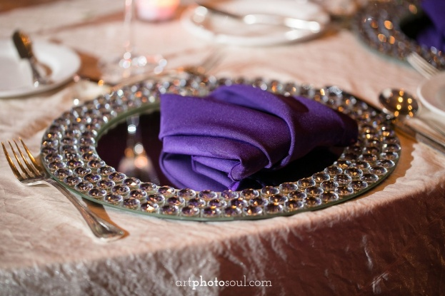 Rosen-Shingle-Creek-Diamond-Purple-Wedding-Art-Photo-Soul-Bling-Mirror-Chargers-Flatware-Kirby-Rentals-A-Chair-Affair-Event-Rentals