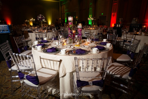 Rosen-Shingle-Creek-Diamond-Purple-Wedding-Art-Photo-Soul-Clear-Chiavari-Chairs-Bling-Mirrored-Chargers-Flatware-Atmospheres-Floral-Decor-Kirby-Rentals-A-Chair-Affair-Event-Rentals