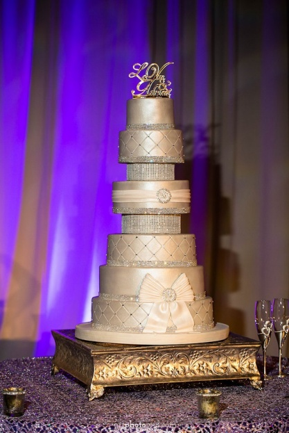Rosen-Shingle-Creek-Diamond-Purple-Wedding-Art-Photo-Soul-Square-Silver-Cake-Stand-Party-Flavors-Kirby-Rentals-A-Chair-Affair-Event-Rentals