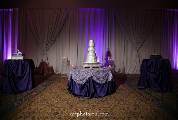 Rosen-Shingle-Creek-Diamond-Purple-Wedding-Art-Photo-Soul-Square-Silver-Cake-Stand-Party-Flavors-Kirby-Rentals-Cindys-Creations-A-Chair-Affair-Event-Rentals
