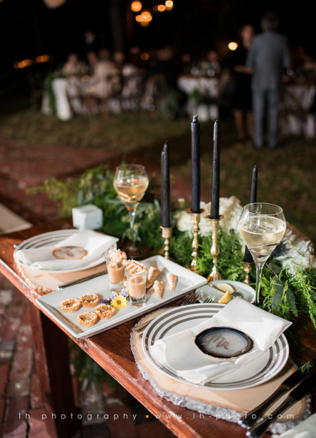 Rustic Bench, LH Photography, Wild Acres, A Chair Affair Event Rentals