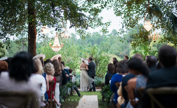 Vintage Wedding Ceremony, LH Photography, Wild Acres, A Chair Affair Event Rentals
