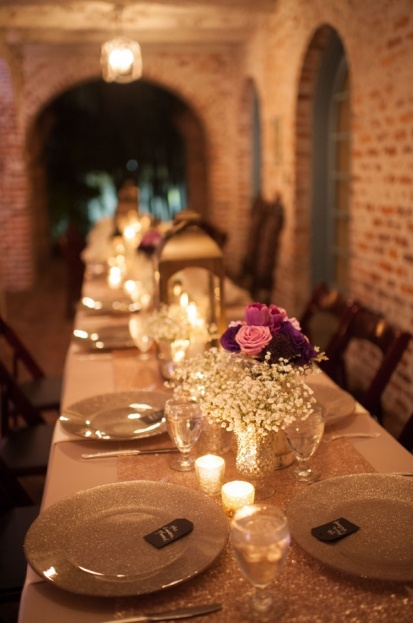 Casa-Feliz-Stephanie-A-Smith-Photography-BBJ-Linen-Mahogany-Resin-Folding-Chairs-Flatware-Champagne-Glitter-Glass-Chargers-A-Chair-Affair-Event