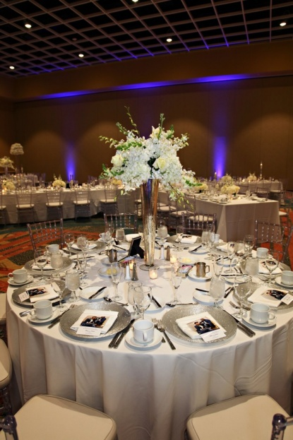 Rosen-Centre-Tab-McCausland-Photography-Silver-Glitter-Class-Chargers-Clear-Chiavari-Chairs-Ivory-Chair-Pads-Lee-Forrest-Design-A-Chair-Affair-Event