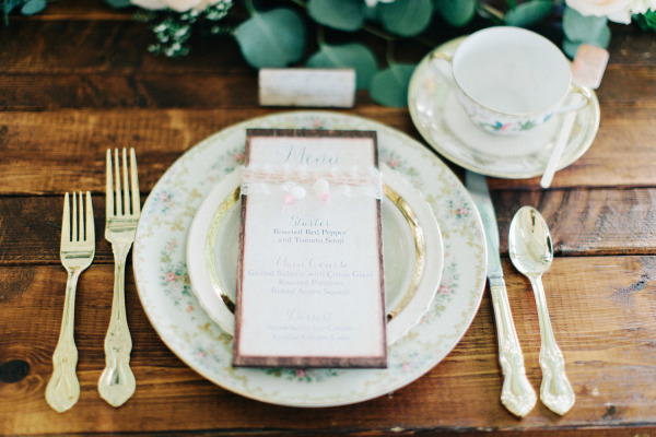The-Acre-The-Hons-Mismatched-China-Gold-Flatware-Rustic-Sweetheart-Table-Company-Forty-Two-A-Chair-Affair-Event