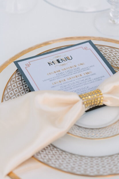 900-Park-Street-K&K-Photography-Gold-Rim-Glass-Chargers-Gold-Flatware-Great-Gatsby-Weddings-FH-Weddings-&-Events-A-Chair-Affair-Event
