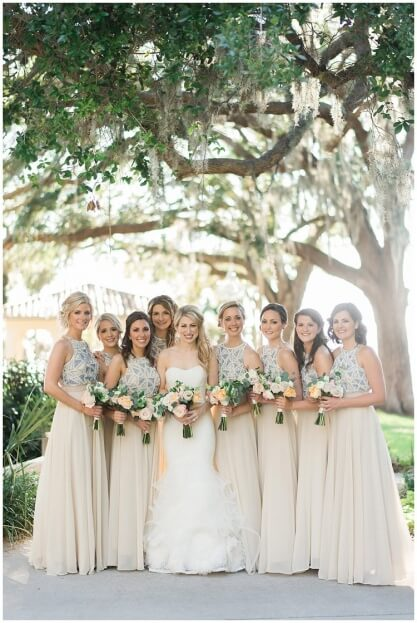 Champagne Bridesmaid Dress, Crosley Mansion, Trenholm Photo, A Chair Affair Event Rentals