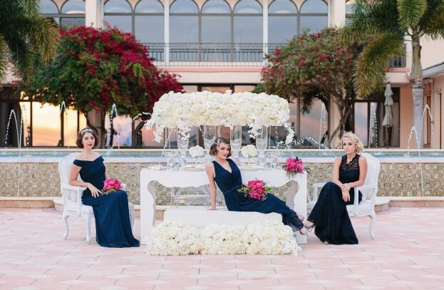 Gatsby Glam Bridesmaids, K and K Photography, 900 Park Street, A Chair Affair Event Rentals