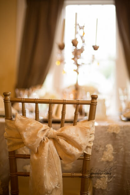 Lake-Mirror-Tower-Marti-Newkirk-Photography-Gold-Rim-Stemware-Gold-Chiavari-Chairs-Gold-Chair-Pads-Gold-Wedding-Ideas-A-Chair-Affair-Event
