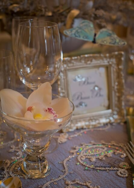 Lake-Mirror-Tower-Marti-Newkirk-Photography-Square-Mirror-Chargers-Gold-Glass-Chargers-Cinderella-Events-Silver-Wedding-Ideas-A-Chair-Affair-Event