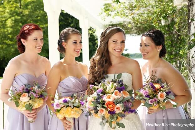 Lavender Bridesmaid Dresses, Heather Rice Photography, Lake Mary Events Center, A Chair Affair Event Rentals