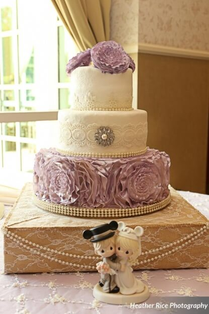 Lavender Wedding Cake, Heather Rice Photography, Lake Mary Events Center, A Chair Affair Event Rentals