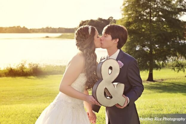 Mr. and Mrs. Sign, Heather Rice Photography, Lake Mary Events Center, A Chair Affair Event Rentals