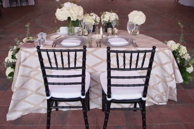 Reunion Resort Castaldo Studio Black Chiavari Chairs White Real Weddings