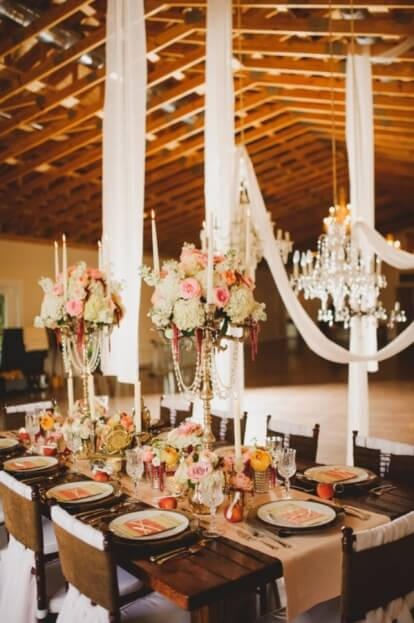 Up-the-Creek-Farms-Claire-Pacelli-Photography-Mahogany-Chiavari-Chairs-Champagne-Glitter-Glass-Chargers-Rustic-Farm-Tables-A-Chair-Affair-Event