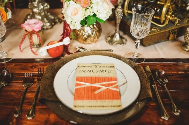 Up-the-Creek-Farms-Claire-Pacelli-Photography-Rustic-Farm-Tables-Gold-Flatware-Champagne-Glitter-Glass-Chargers-A-Chair-Affair-Event