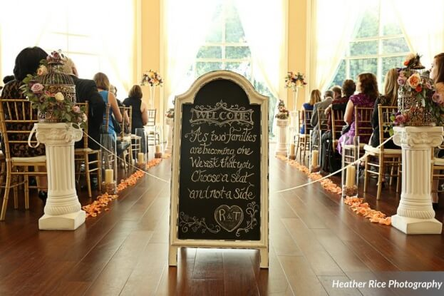 Wedding Signage, Heather Rice Photography, Lake Mary Events Center, A Chair Affair Event Rentals
