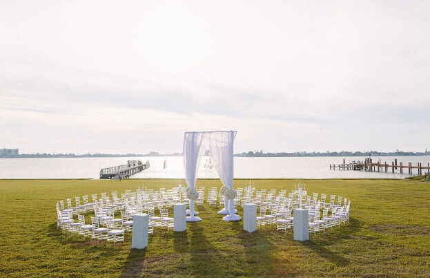 White Chiavari Chairs, K and K Photography, 900 Park Street, A Chair Affair Event Rentals