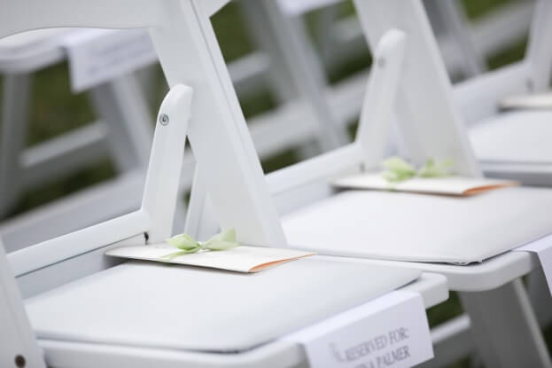 White Resin Chairs, The Alfond Inn, Live Hapy Studios, A Chair Affair Event Rentals