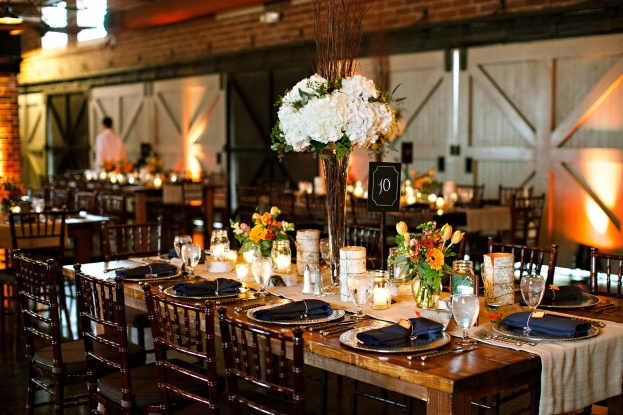 Winter-Park-Farmers-Market-Chelsea-Patricia-Photography-Rustic-Wedding-Ideas-Hammered-Metal-Chargers-Rustic-Farm-Tables-A-Chair-Affair-Event