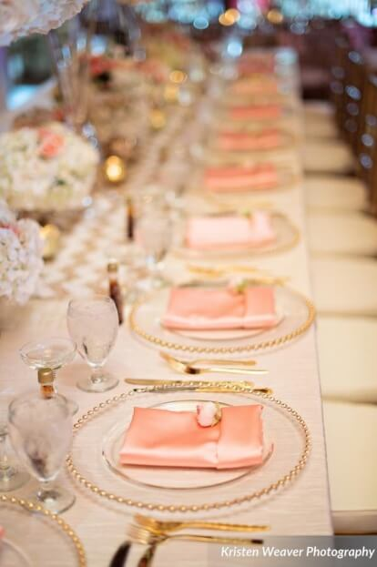 Blush and Gold Wedding Tablescape, Tavern and Chapel in the Garden, Kristen Weaver Photography, A Chair Affair Event Rentals