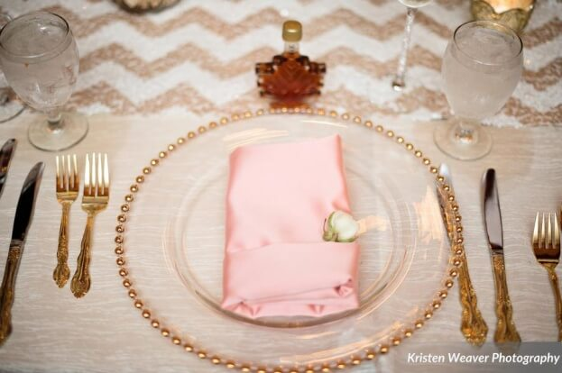 Blush and Gold Wedding, Tavern and Chapel in the Garden, Kristen Weaver Photography, A Chair Affair Event Rentals