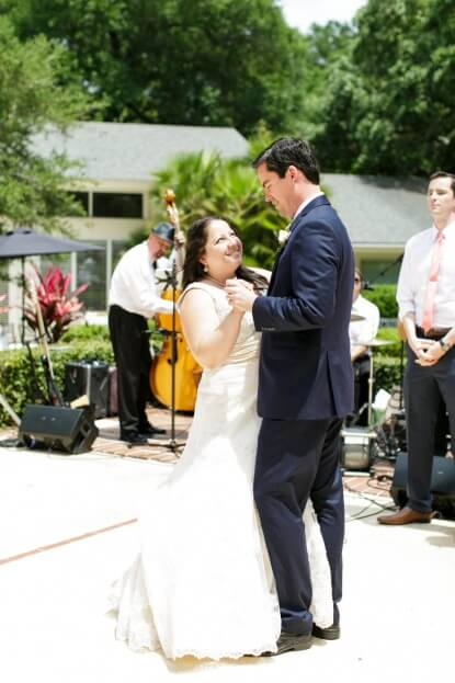 First Dance, Tea Party Wedding, Bride, Groom, Florida Federation of Garden Clubs, Bumby Photography, A Chair Affair Rentals