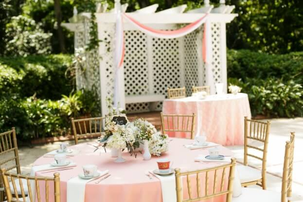Gold Chiavari Chairs, Tea Party Wedding, Florida Federation of Garden Clubs, Bumby Photography, A Chair Affair Rentals