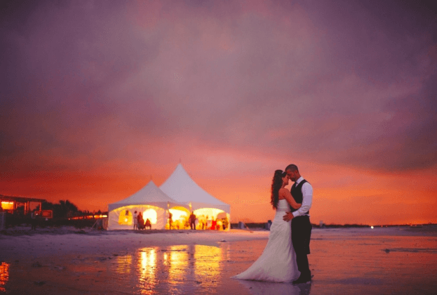 Honeymoon Island-Outdoor Wedding Ideas-Wedding Photo Ideas Sunset-A Chair Affair Wedding Rentals