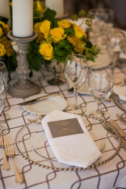 Silver Belmont Glass Chargers, Yellow Floral, Yellow Wedding Ideas, Beach Wedding Ideas, Port Royal Club, Ryan Joseph Photographs, A Chair Affair Rentals