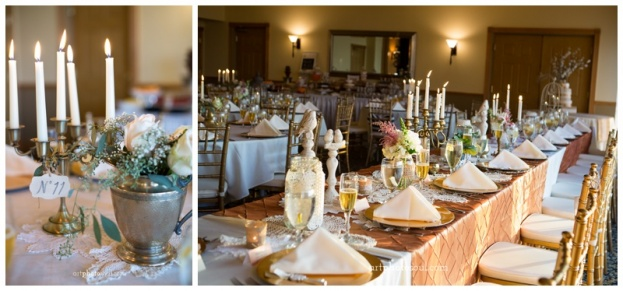 Stoneybrook-West-Golf-Club-ArtPhotoSoul-Photographers-Gold-Chiavari-Chairs-Vintage-Floral-Centerpieces-Romantic-Ideas-A-Chair-Affair-Rentals
