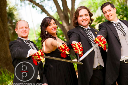 Sword Wedding Ideas, Grooms Party Photo Ideas, Ballroom at Church Street, Orlando Wedding Pix, A Chair Affair Rentals