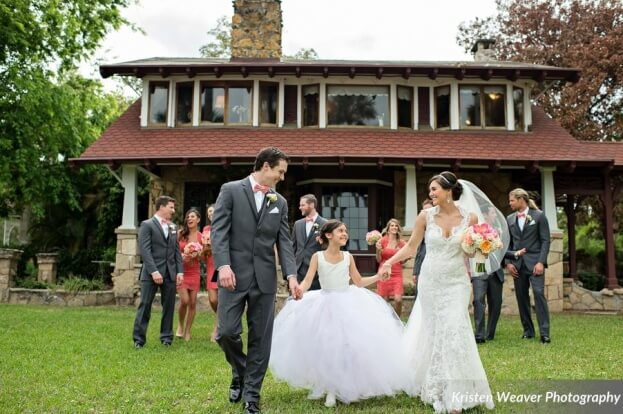 Tulle Flower Girl Dress, Tavern and Chapel in the Garden, Kristen Weaver Photography, A Chair Affair Event Rentals